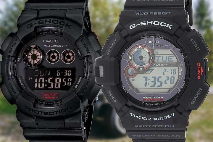 GD120MB Black Military Watch, G9300 Mudman Military Watch