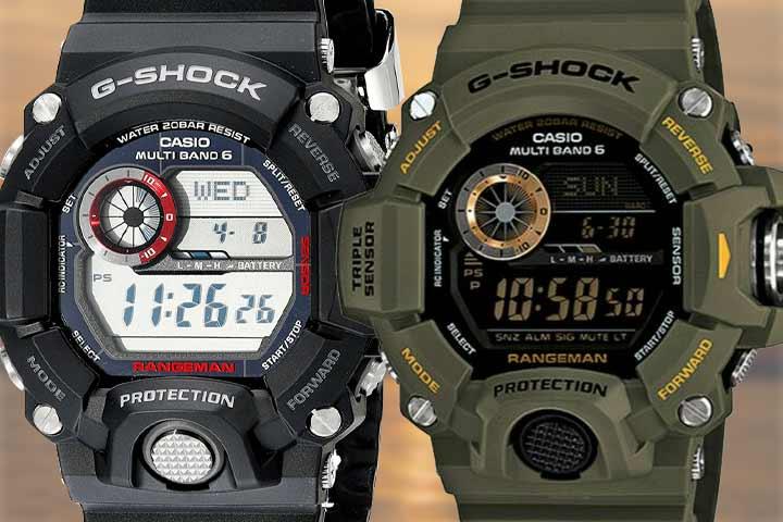 Casio G-Shock Rangeman close up shot
