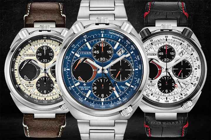 Citizen Promaster Tsuno Chronograph Racer brown, silver and black