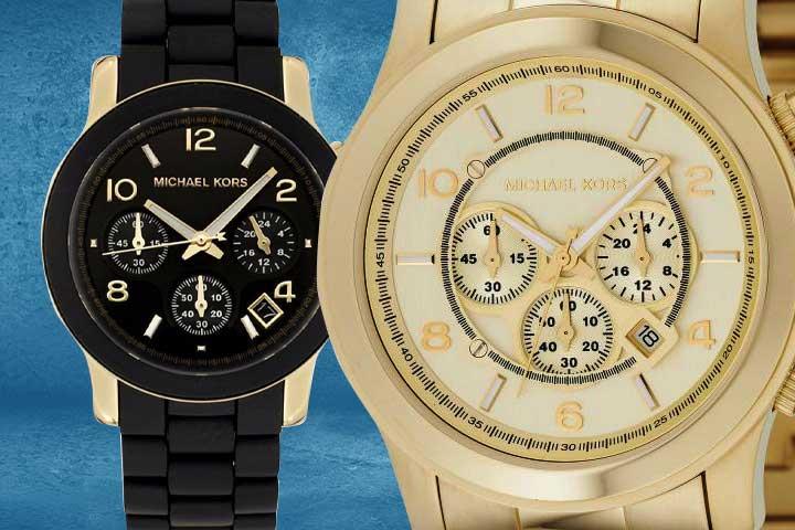 Michael Kors Runway Chronograph Watch gold and black