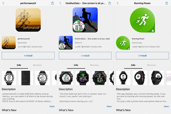 Garmin running apps