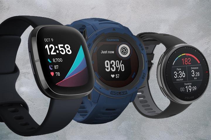 Fitbit Sense, Garmin Instinct Solar,Polar Vantage V2