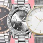 Nine West Crystal, Rumias Silver Women's Watch, Skagen RIIS Women's Quartz
