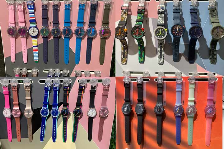 Different Swatch watches