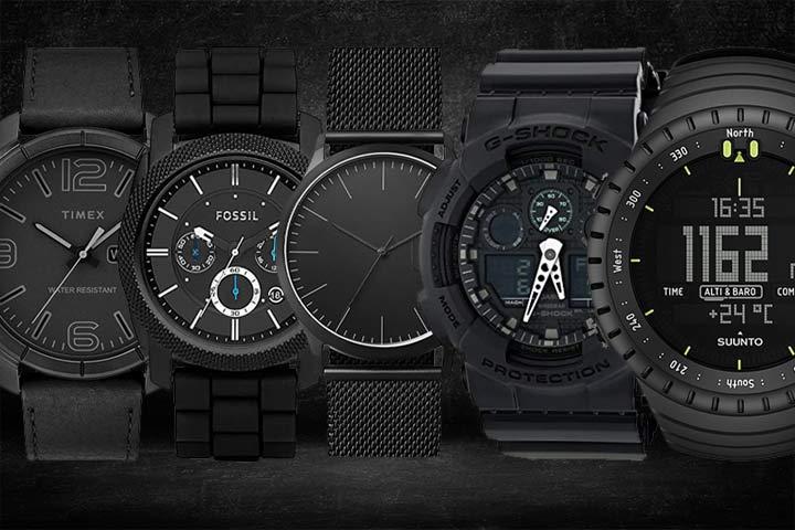 Timex Men's Mod 44 Leather Strap Watch, Fossil Machine Quartz Chronograph, Skagen Jorn Stainless Steel Mesh Black, Casio Men's GA100MB G-Shock Multifunction Watch, SUUNTO Core