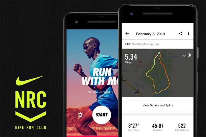Nike Run Club app screenshots