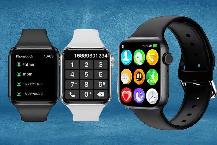 HCHLQL Smartwatch black and white close up shot