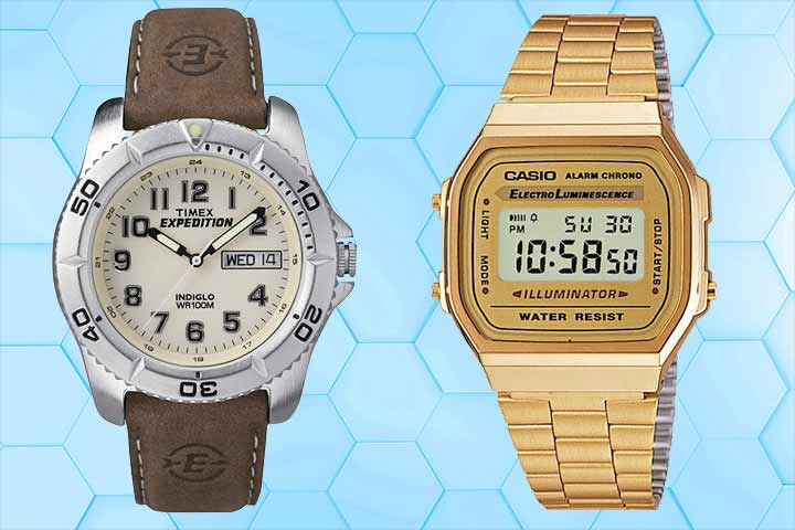 Analog : Men's Timex Expedition and Digital: Casio A168WG-9