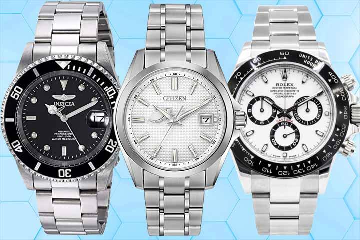 Automatic: Invicta Pro Diver, Quartz: Citizen Quartz White Dial Titanium, Mechanical: Rolex Daytona
