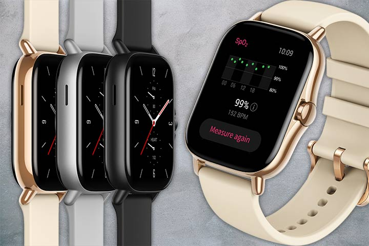 Amazfit GTS 2 rose gold, silver and black