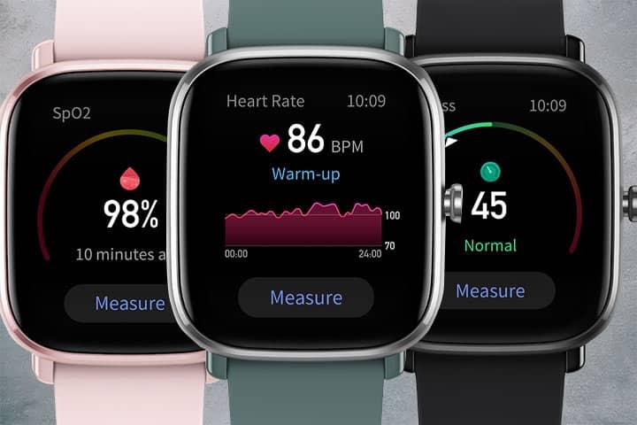 Amazfit GTS 2 health tracking