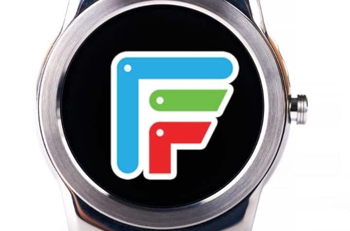 Facer App logo on smartwatch mockup