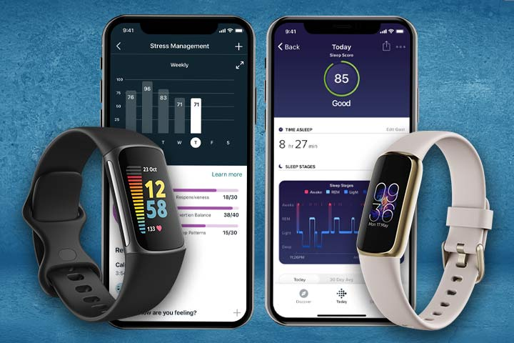 Fitbit Charge 5 and Fitbit Luxe stress and sleep tracking