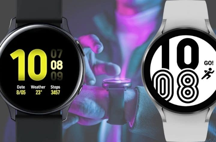 Samsung galaxy watch active 2 and 4