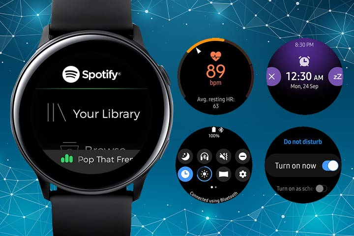 Galaxy Watch Active watch features
