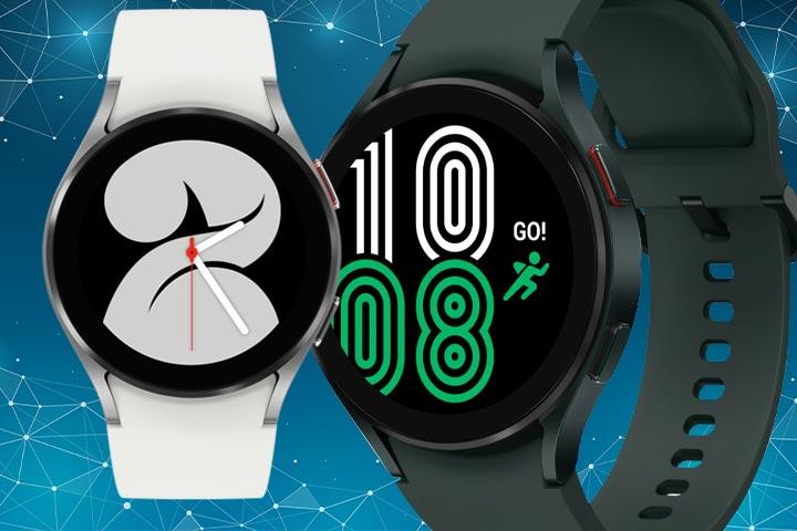 Samsung Galaxy Watch 4 black and white