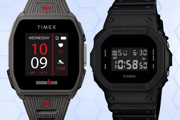 Timex Ironman R300 and Casio G-Shock DW-5600BB