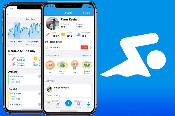 MySwim Pro app screenshots