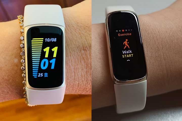 fitbit charge 5 and fitbit luxe