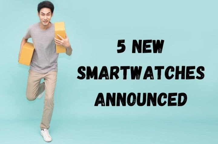 man running with new smartwatches